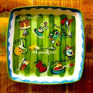 Southern Living Serving Platter -Square Multicolor